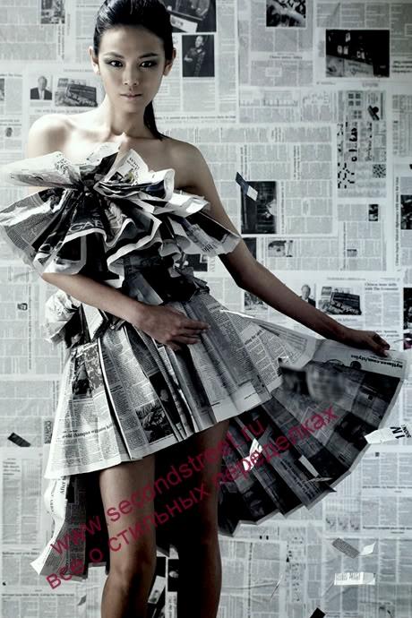 Платье из обоев своими руками фото
