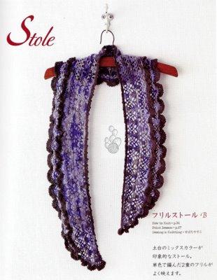 Ажурная шаль-шарф крючком -2