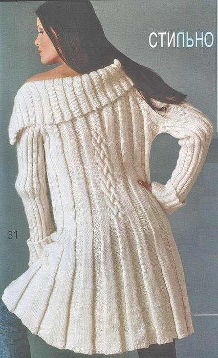 Пальто » Вязание спицами и крючком