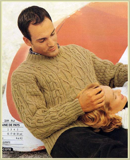 Пуловер с косами мужской доставка