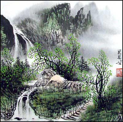 Пейзажи водопады церкви в пейзажах