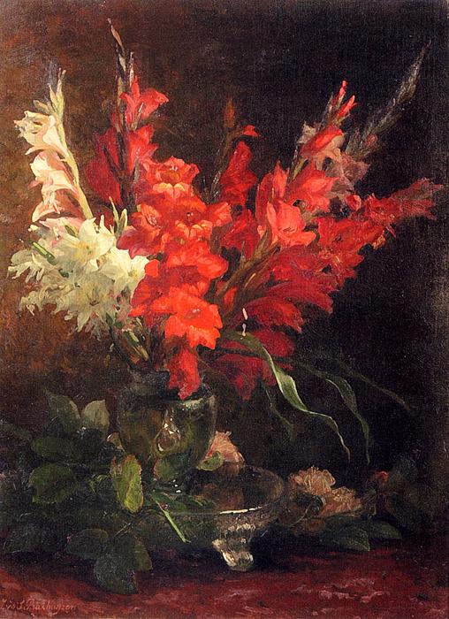 Geraldine Jacoba Van De Sande Bakhuyzen (1826-1895)a_still_life_with_gladioli_and_roses-large (508x700, 494Kb)