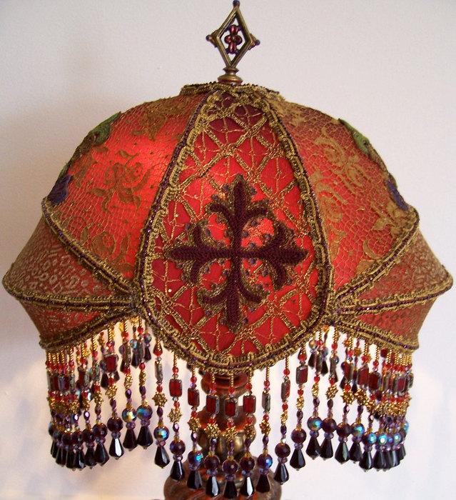 creatives lamshades: embroidered lampshades