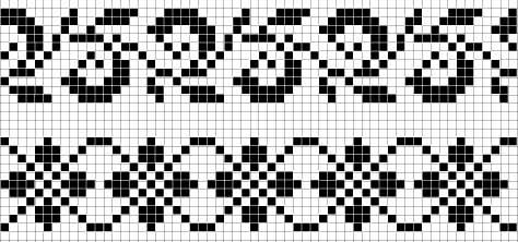 схема узора для жаккардового вязания 1 (474x222, 37Kb)