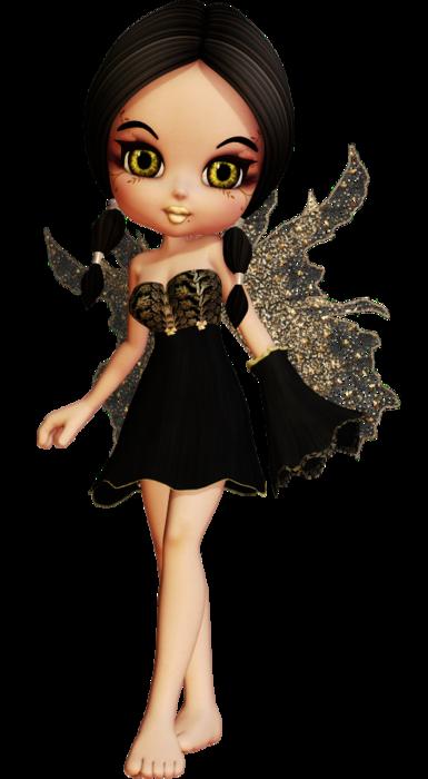 SSLisa - Cookie - Cute Elves - Black (385x700, 228Kb)