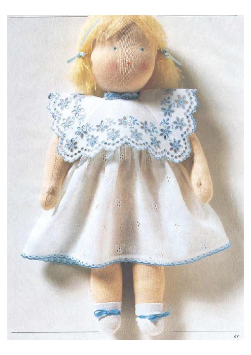 Как сделать мягкую куклу из ткани видео