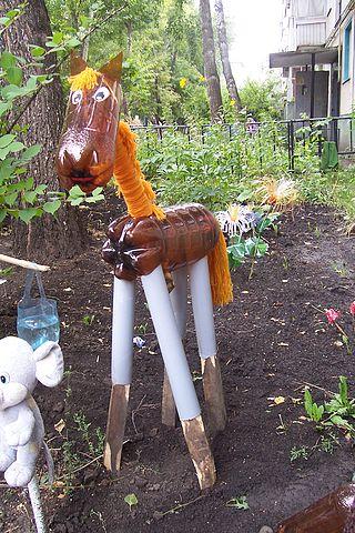 Мастер класс лошадь из пластиковых бутылок своими руками