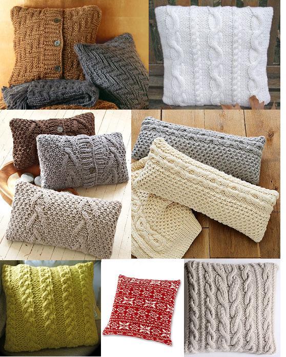 Новая жизнь старых вещей.  Подушки из свитеров.