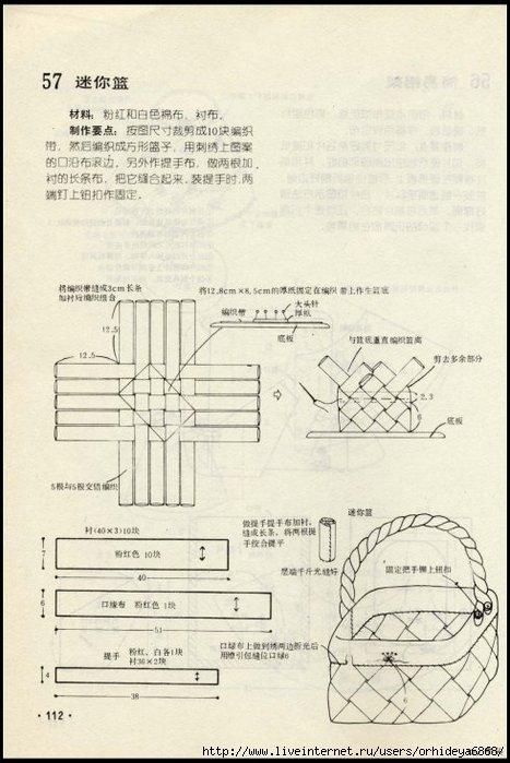 схема шитья сумки — схема
