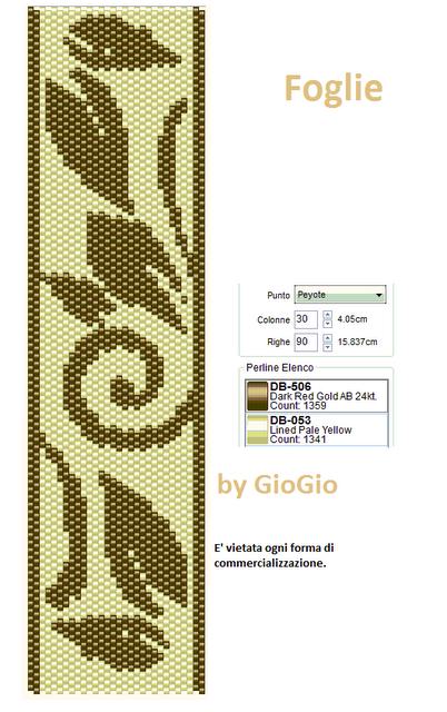 Схема бисероплетения в технике мозаика - вьюнок.