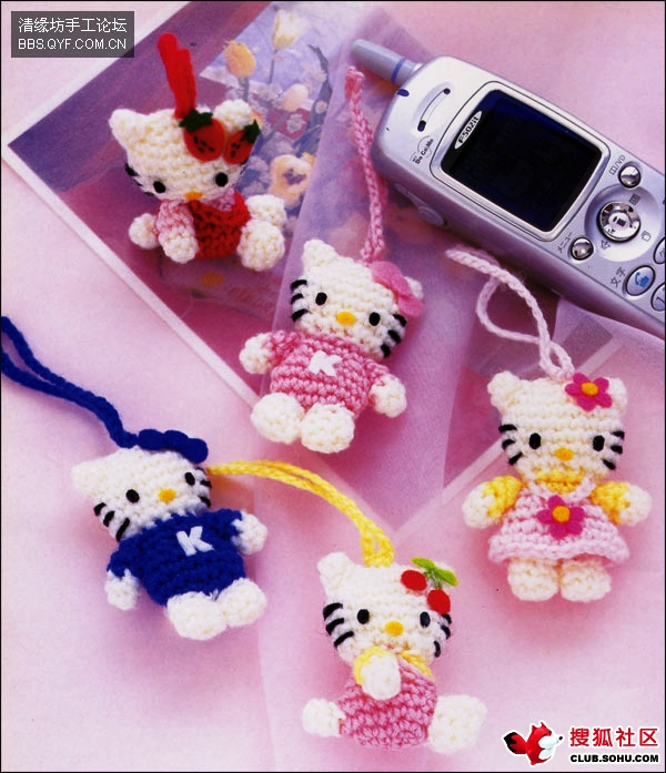 Baby Favor Hello Kitty Amigurumi Key Chains Free Crochet Patterns