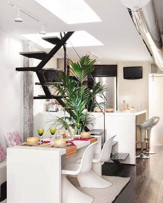 Интерьеры квартир 2011 - двухуровневая квартира в Мадриде 4 (560x700, 98Kb)