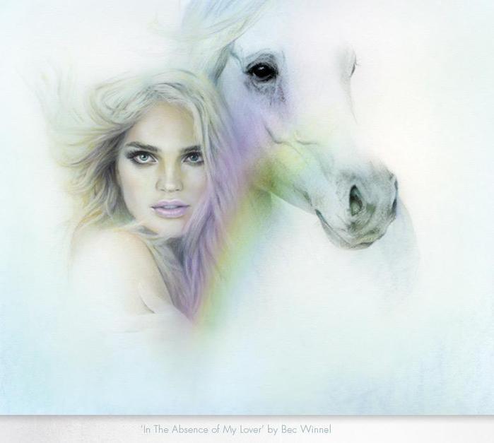 девушка и белая лошадь (700x627, 27Kb)