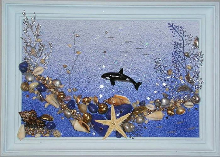 Как своими руками сделать картину из морских ракушек 16