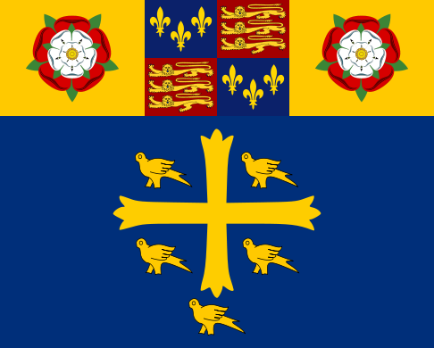 486px-Standard_of_Westminster_Abbey.svg.pngFlag of Westminster Abbey, featuring the Tudor arms between Tudor Roses above the supposed arms of Edward the Confessor (486x390, 53Kb)