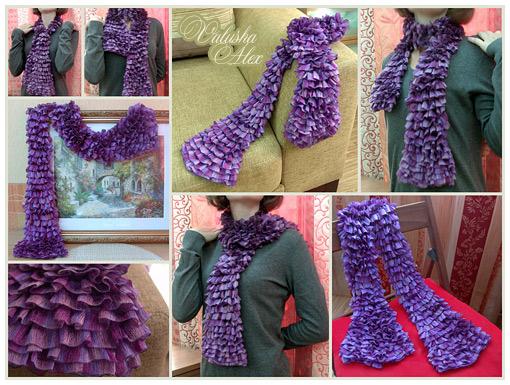 Вязание шарфа из ниток 156