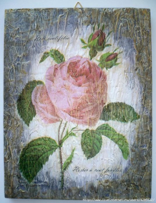 ретро-панно Роза (537x700, 307Kb)