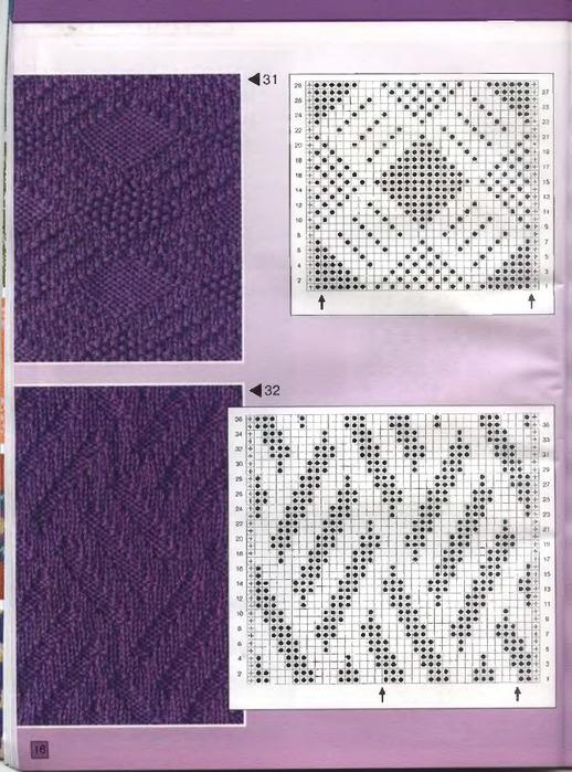 узоры для вязания спицами с описанием, ажурный рисунок для шапки и...