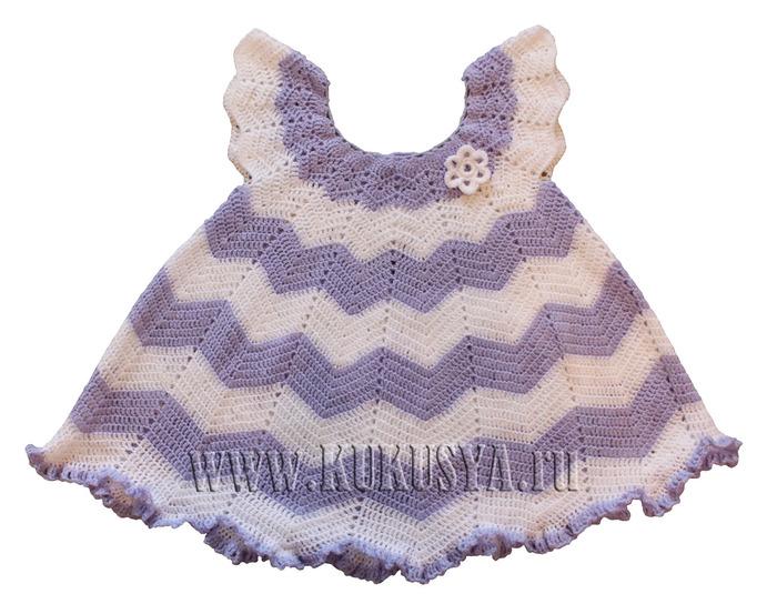 Видео вязания детских платьев спицами