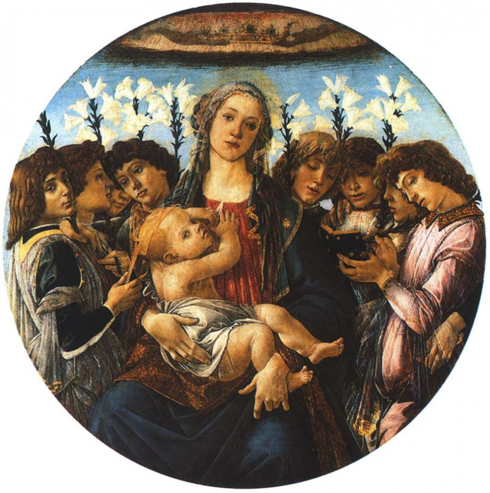 2382183_botticellimaria_Sandro_Botticelli__Madonna_and_Child_with_Eight_Angels__1478 (695x700, 375Kb)
