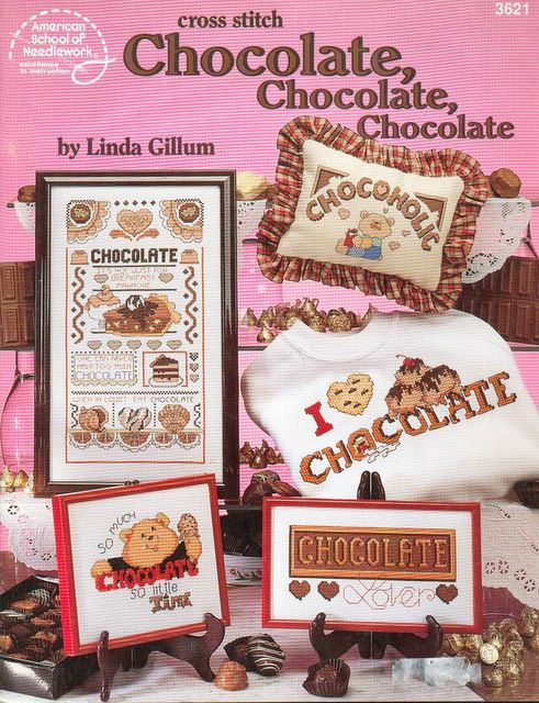 Вышивка по шоколаду