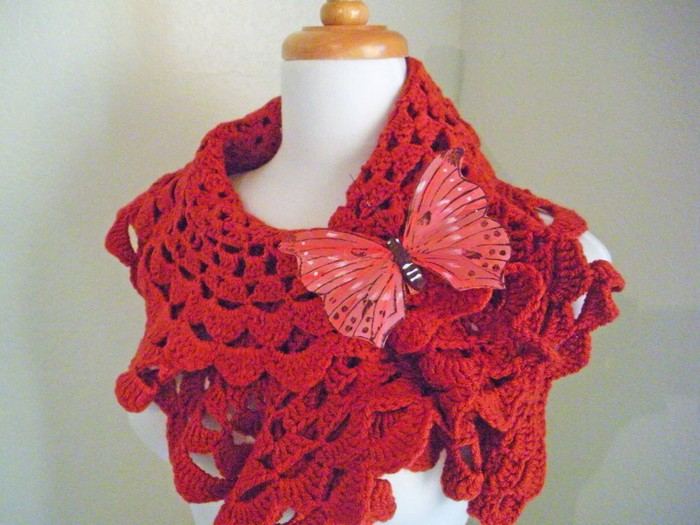 Вязание крючком красивого шарфа 4