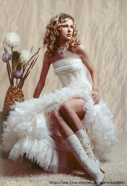 белые платья в пол