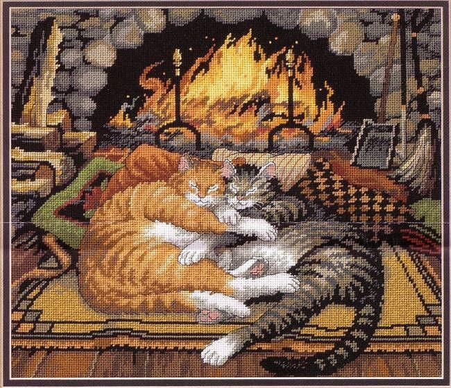 вышивка кошки - Журнал по вышивке.