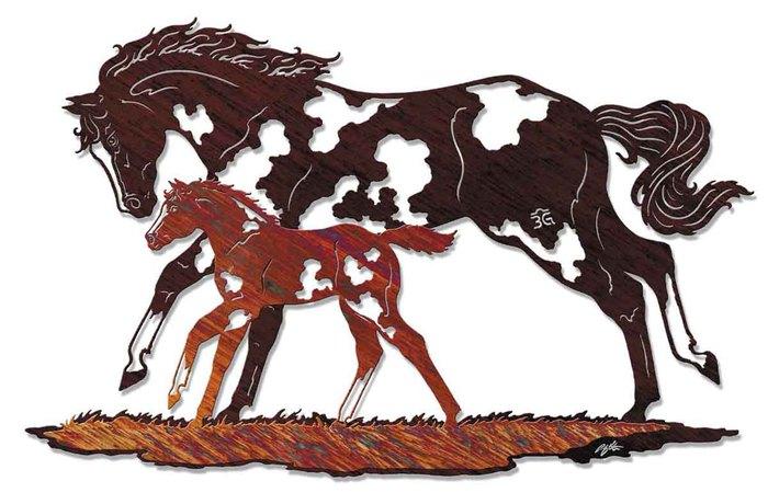 зажигания как сделать картину с лошадью из фанеры раздел