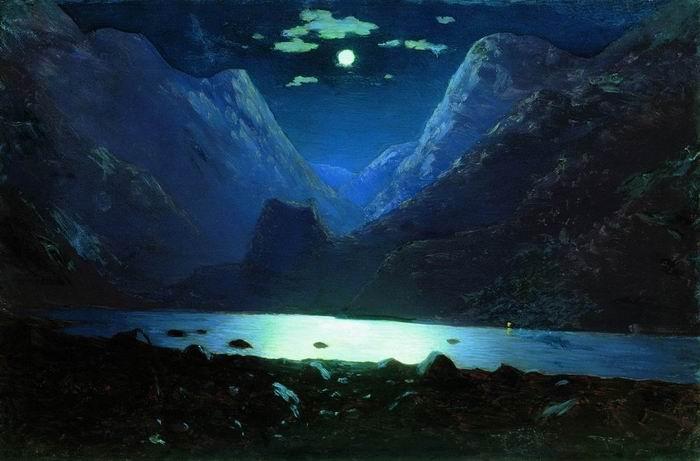 Лунная ночь 1890 1895 архип куинджи