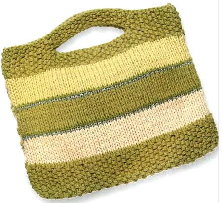 схема макраме простой сумочки на лето.