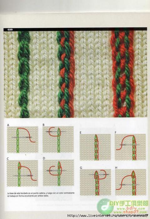 При мы вышивки по вязанному полотну