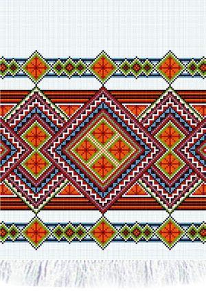 Бесплатные схемы вышивки крестом .  Категория: Орнаменты/ Рушники/Салфетки Просмотров.