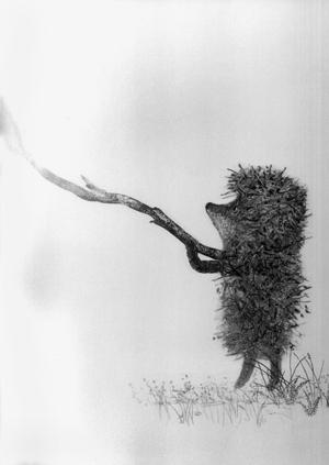 Но раз как-то пошел Ежик к другу, да заблудился в тумане.