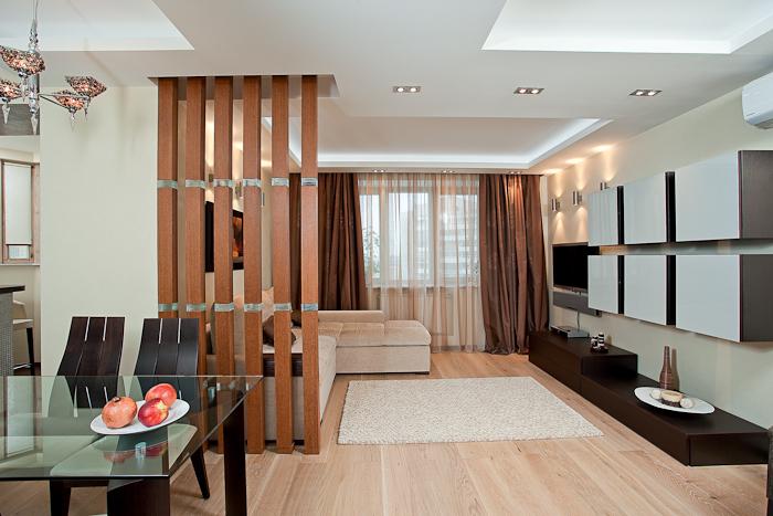 Дизайн перегородок между кухней и гостиной фото