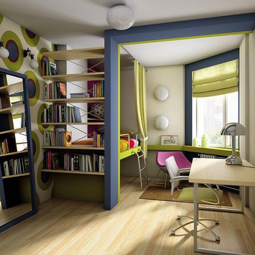 Ещё одна важная часть интерьера маленькой квартиры - настольная лампа.