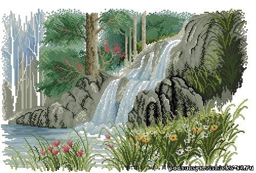 Водопад. http://podsolnyx.vishivka-st.ru.