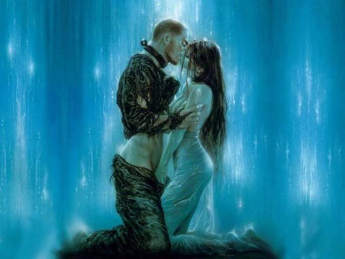 Картинки где парень целует девушку 8