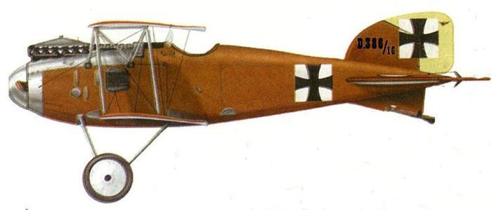 Альбатрос D-II Бёльке 40 поб 1916 г  (на нем погиб) (700x300, 40Kb)