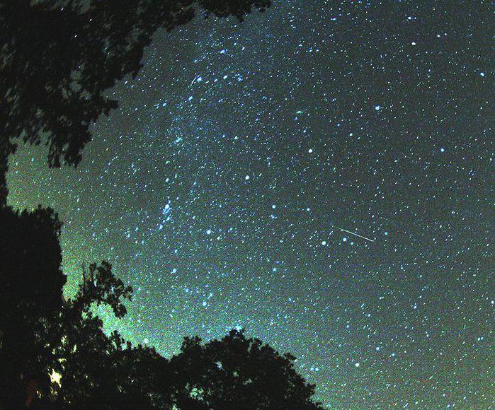 В ночь с 12 на 13 августа прошел звездный дождь Персеиды