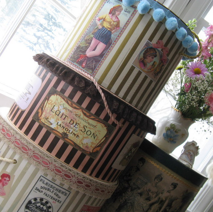 Шляпная коробка для цветов купить - 4c57