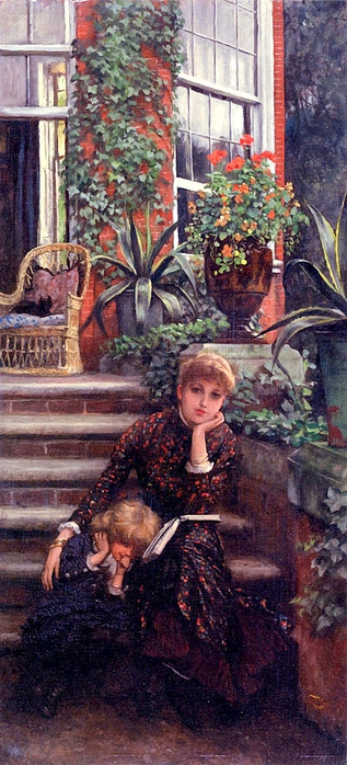James Tissot (1836 – 1902, French).la-soeur-ainee (317x700, 233Kb)