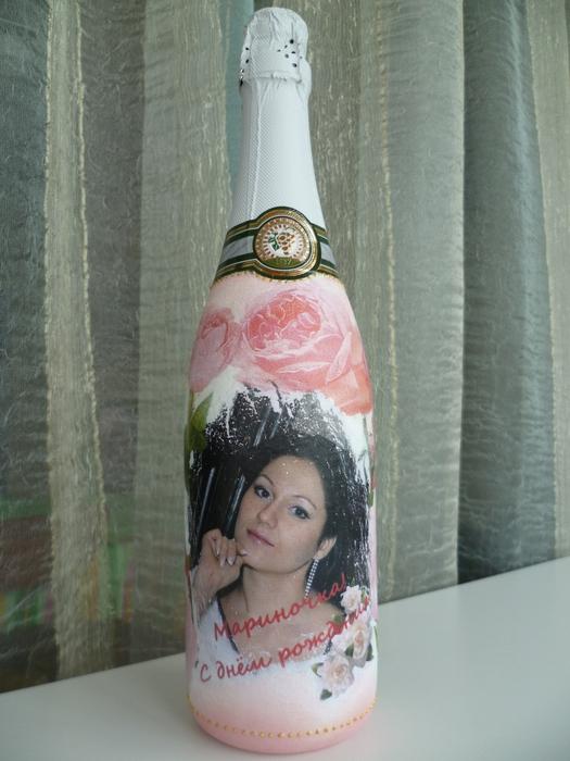 Бутылка к новому году фото