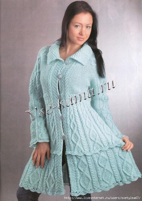 Метки: пальто женское спицами