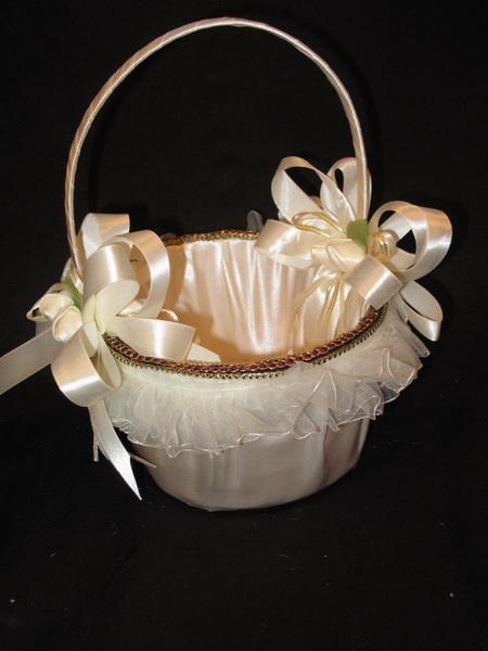 Корзинка для лепестков свадебная своими руками