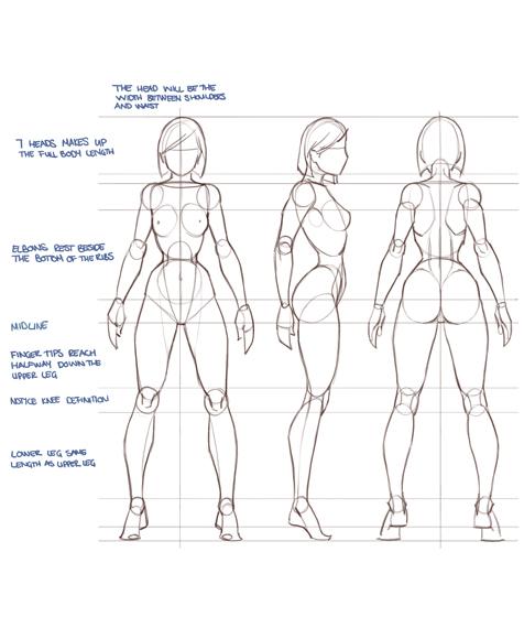 схема рисования человека - Проверенные схемы.