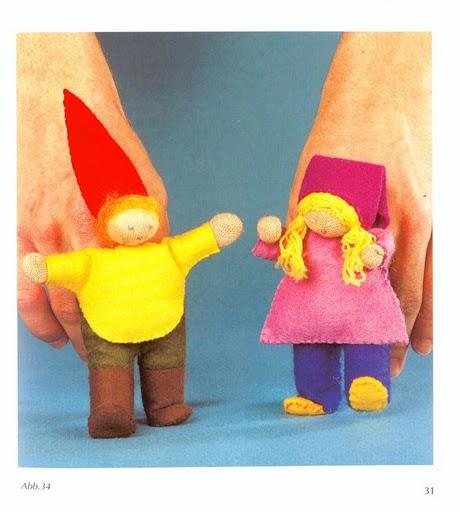 Как сделать пальчиковую куклу из ткани