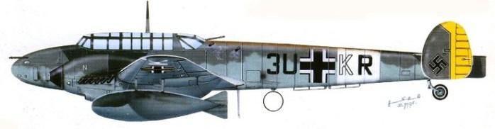 09 Bf-110D2 из  III-ZJ26 1942u (700x182, 25Kb)