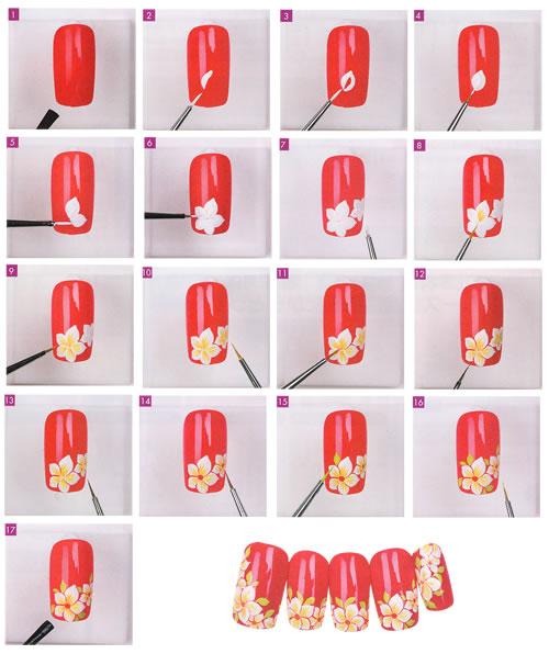 Рисунки лаком простым на ногтях
