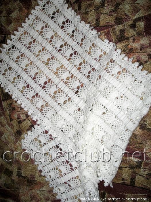 Как связать крючком шарф Учимся вязать крючком: Схемы для вязания...